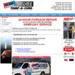 Temp-a-cure your local heating and repair. Database driven web site that utilizes php and mysql